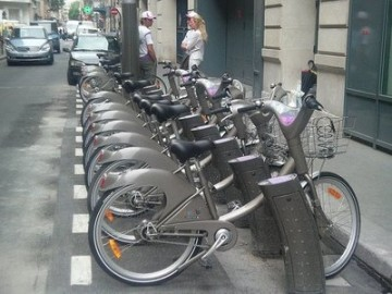 Paris bicycles for public use